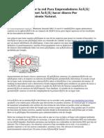 Negocios por la red Para Emprendedores – Marketing en internet – hacer dinero Por InternetPosicionamiento Natural.