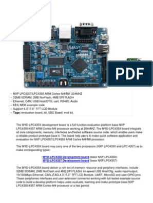 myd_lpc435x | Arm Architecture | Microcontroller