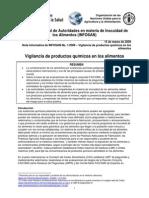 C1-09 FAO Vigilancia Productos Quimicos en Alimentos