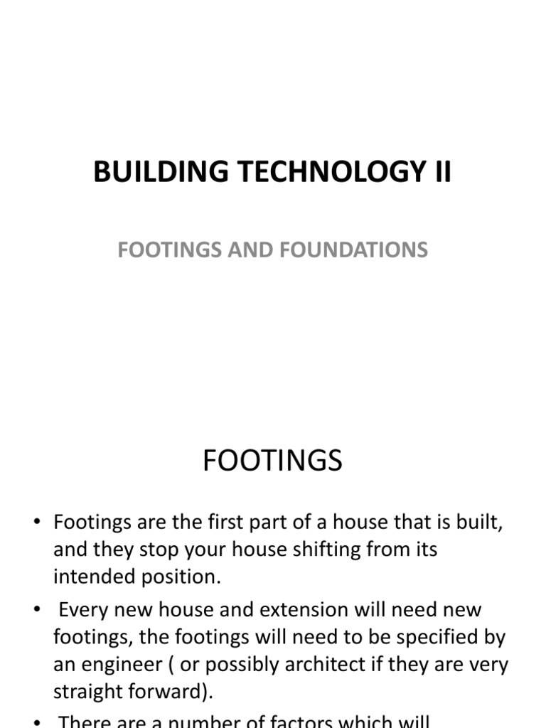 Footings Foundations | Deep Foundation | Foundation