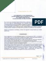 Acta Modifica Mecanismos Para Proceso Electoral Cnb 2014