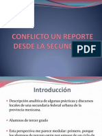 Conflicto Un Reporte Desde La Secundaria