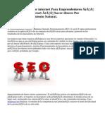 Negocios por internet Para Emprendedores – Marketing por internet – hacer dinero Por InternetPosicionamiento Natural.
