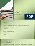 Design Pattern-Memento