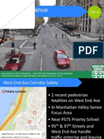 NYC Department of Transportation July 31, 2014 presentation on West End Avenue