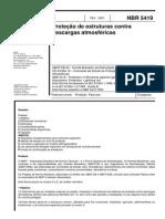 ABNT NBR 5419 (2001) - Proteção de Estruturas Contra Descargas Atmosféricas