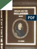 Ceylon and the Hollanders 1658-1796 by P.E PIERIS