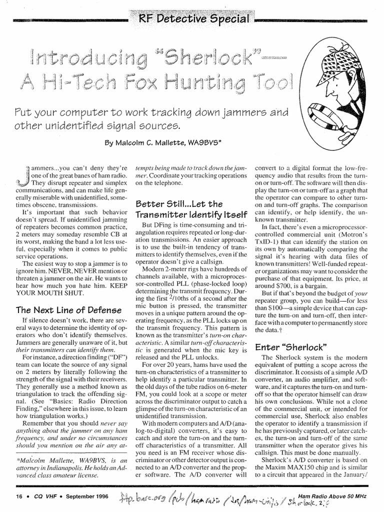 Introducing Sherlock - A Hi-Tech Fox Hunting Tool | Transmitter
