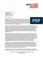 8.1.14 United to End Genocide Letter to President Obama on S Sudan-Africa Leader Summit
