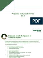 Propuesta Auditores Externos 2012