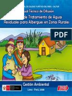 Sistema de tratamiento de aguas residuales para albergues en zonas rurales