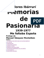 Ibárruri, Dolores - Memorias de Pasionaria 1939 1977 Me Faltaba España
