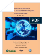 Operationalization of Software-Defined Networks (SDN) Program Review
