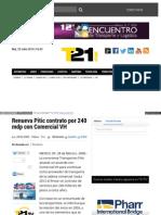 Renueva Pitic contrato por 240 mdp con Comercial VH