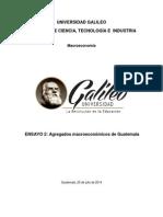 Agregados Macroeconómicos de Guatemala