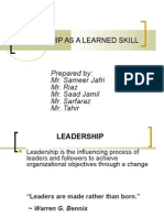 Leadership as Learned Skill