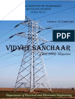 Vidyut Sanchaar Electrical Magazine October 2013 NIT Arunachal Pradesh