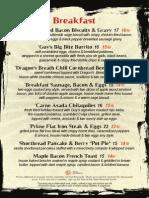 Guy Fieri breakfast menu