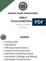 VISN 4 Access Audit Results