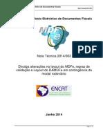MDFe Nota Tecnica 2014 003