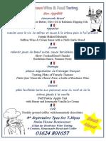 Bordeaux Wine & Food Tasting Menu