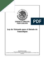 121 Ley de Vivienda Para El Estado de Tamaulipas