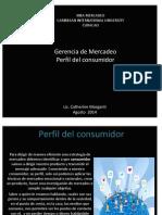 Perfil de Consumidor- Catherine Morganti