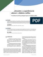 O Adolescente e a Experiência Do Adoecer o Diabetes Mellitus