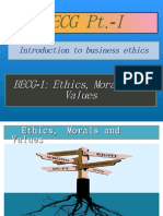 BECG-1 Ethics, Morals and Values