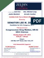 Reception for Lee Zeldin