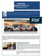 APECES - Newsletter No 27