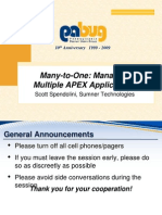 Vendor_Many to One Managing Multiple APEX Applications