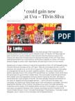 Only JVP Could Gain New Victories at Uva – Tilvin Silva