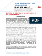 Catedra Innovacion. 2013 Universidad Del Valle