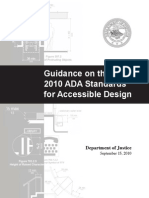 Guidance 2010 ADA Standards