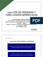 Recursos Humanos - 1 Gestión de Personas y Habilidades Gerenciales