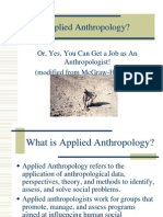 Applied Anthropology