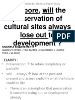 Cultural Sites vs Development