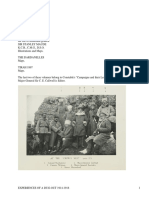 Experiences of a Dug-out, 1914-1918 by Callwell, Charles Edward
