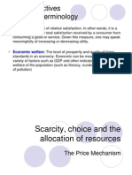 Scarcity Choice and the Allocation of Resources