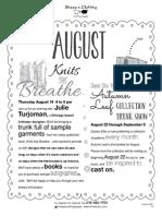August 2014 Class Schedule