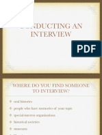 conducting interview lesson6
