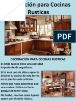 Decoración Para Cocinas Rusticas