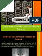 Diseño de Interiores Con Paredes De Textura