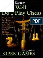 ow Well Do I Play Chess, Open Games Chess Stars.2007