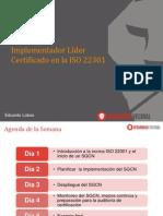 Curso Implementador Lider ISO 22301