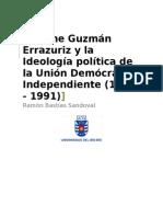 Jaime Guzmán Errazuriz y La Identidad Política de La Unión Demócrata Independiente