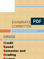 Exam marking scheme for BMS