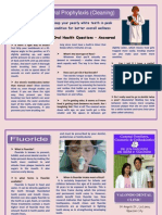 Oral Prophylaxis and Fluoride Treatment Brochure