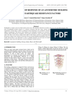 Parametric Study of Response of an Asymmetric Building for Various Earthquake Resistance Factors